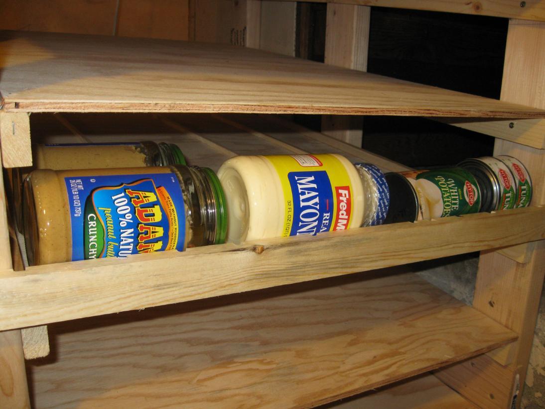 How to Make Can Rotator Shelves