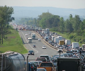 crowded highway