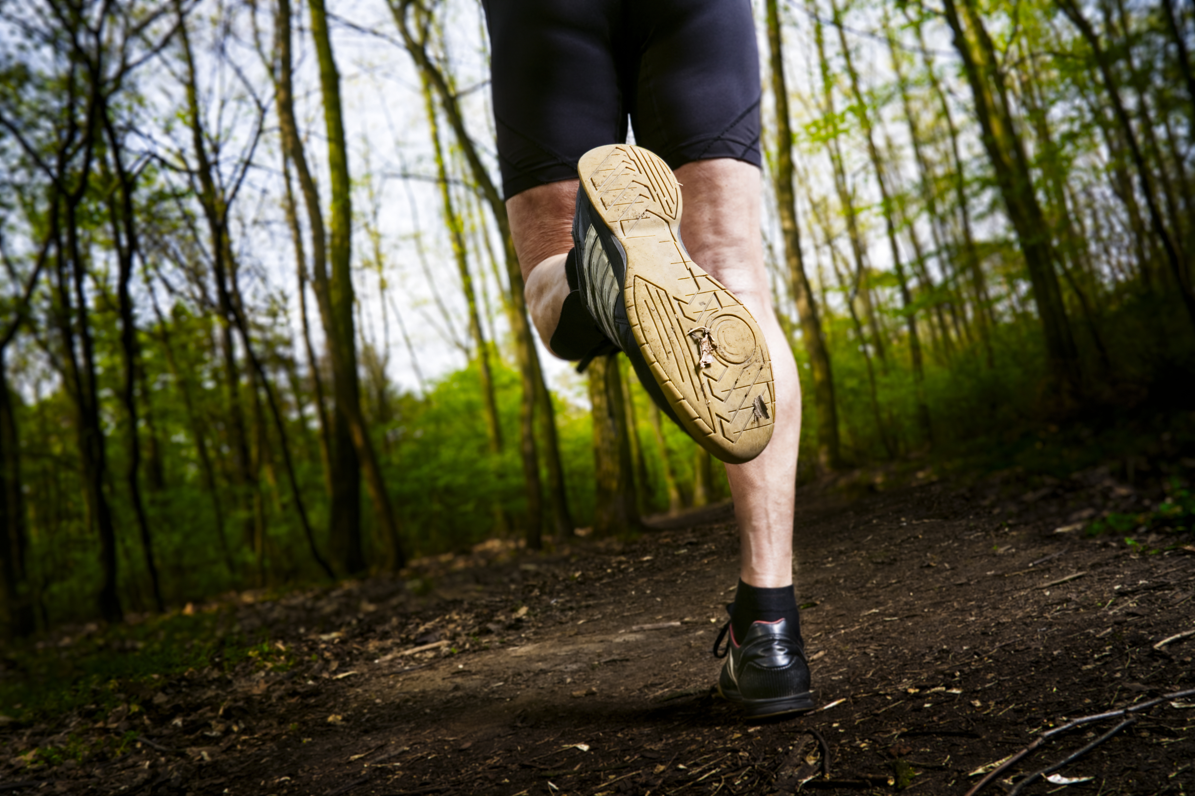 Active Senior Male Jogging in the Woods - Eat Tomorrow Blog