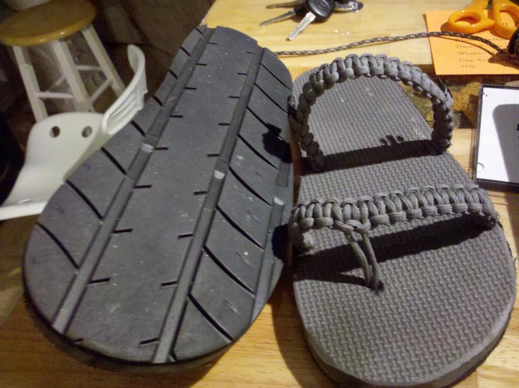 Обувь из резины своими руками