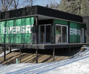 secure shipping container cabin